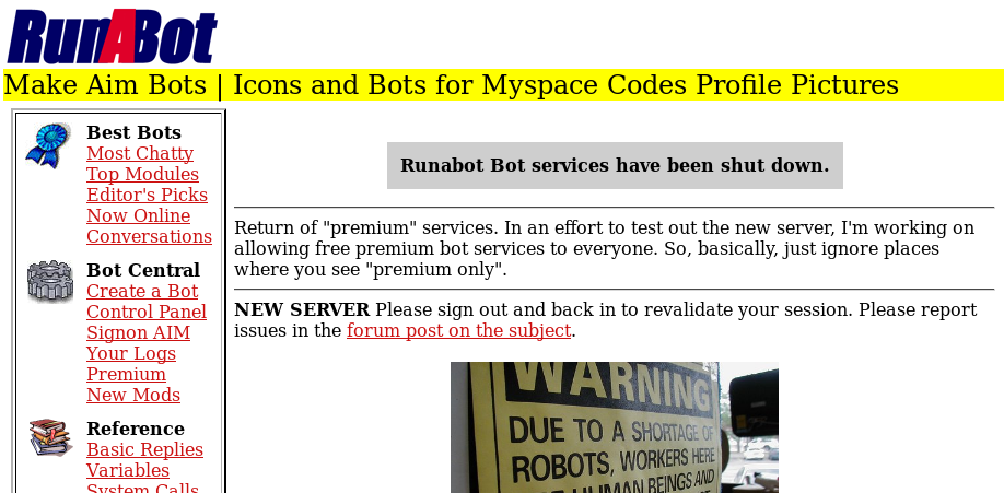 RunABot Website Screenshot