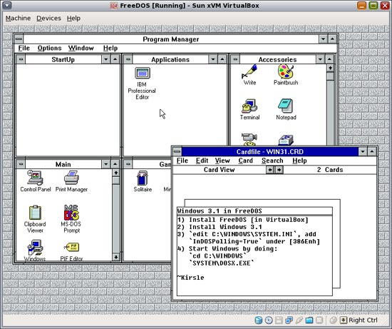 Windows 3.1 in FreeDOS