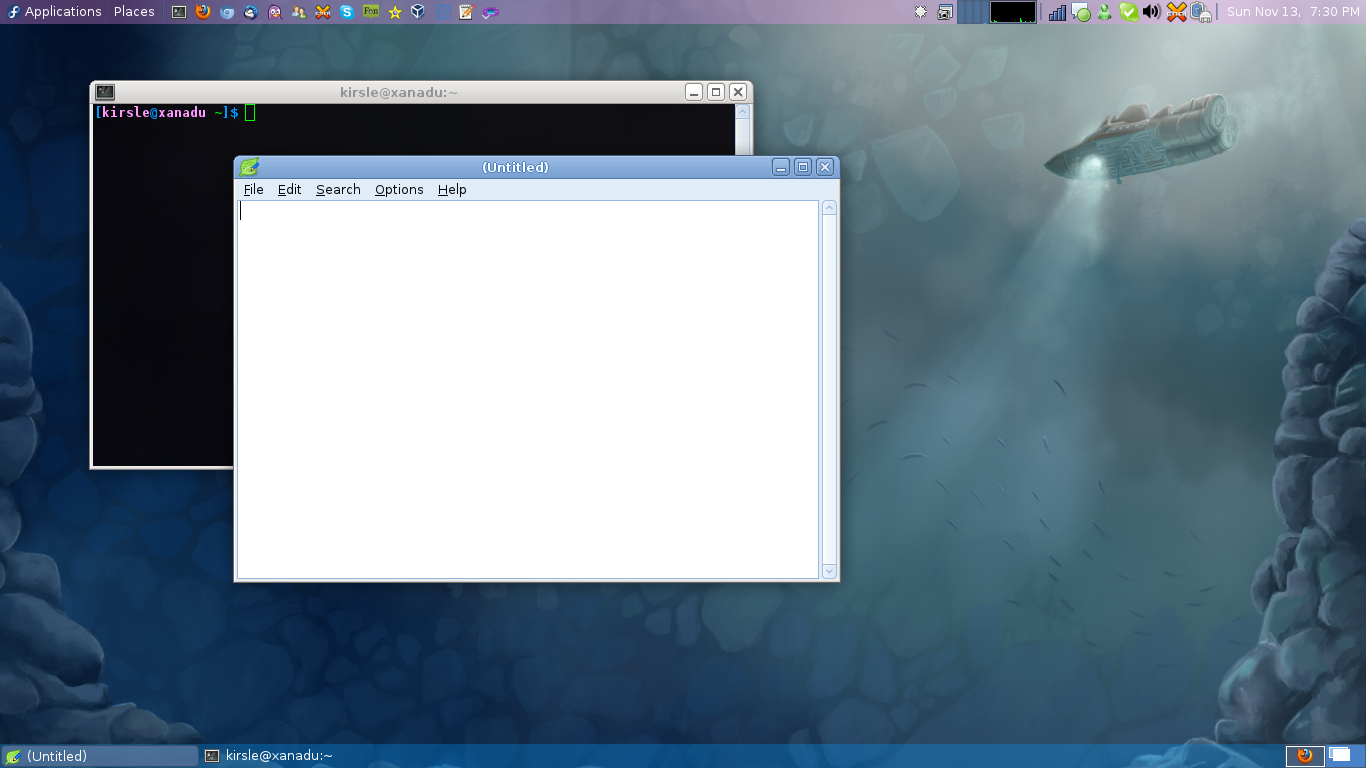 Xfce two-panel layout