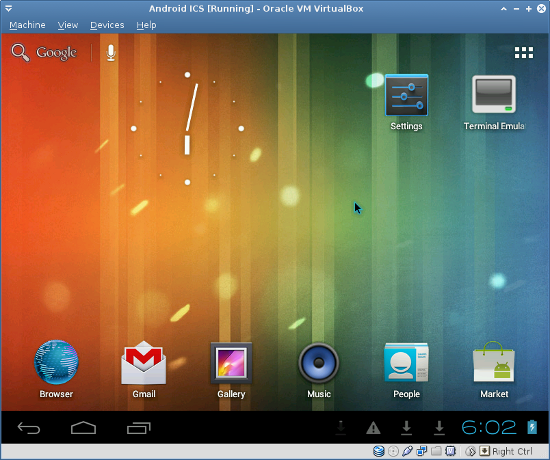 Android ICS Screenshot